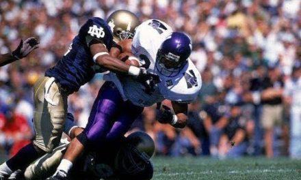 CFB Flashback: 25-Year Anniversary — Northwestern Stuns No. 9 Notre Dame in Opener