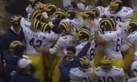 CFB Flashback: 30-Year Anniversary — Carlson's Kick Lifts Michigan Past Ohio State