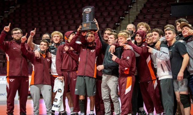 Virginia Tech Wrestling: Hokies Celebrate ACC Dual Meet Championship